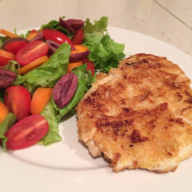 gluten free, fodmap free, paleo chicken schnitzel. chicken breast ...