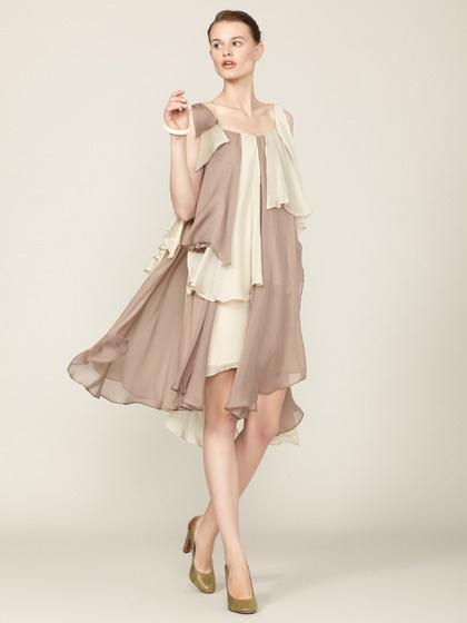 Adele Layered Silk Dress