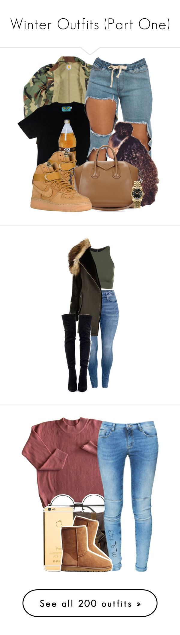 """Winter Outfits (Part One)"" by taylanax0 ❤ liked on Polyvore featuring Carhartt, NIKE, Givenchy, Rolex, women's clothing, women, female, woman, misses and juniors"