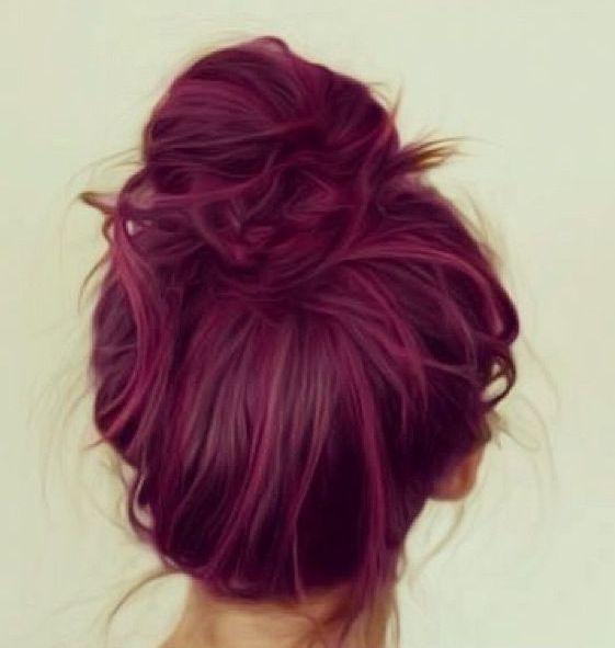 Red Plum Hair Color   Dark Brown Hairs