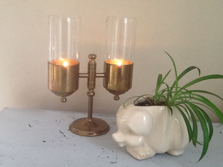 Vintage Brass Candle Sticks / Brass Candle Holders / 2 Brass Candle Holders / Large Brass Candle Holders by RedBarnGarden on Etsy https://www.etsy.com/listing/241530964/vintage-brass-candle-sticks-brass-candle