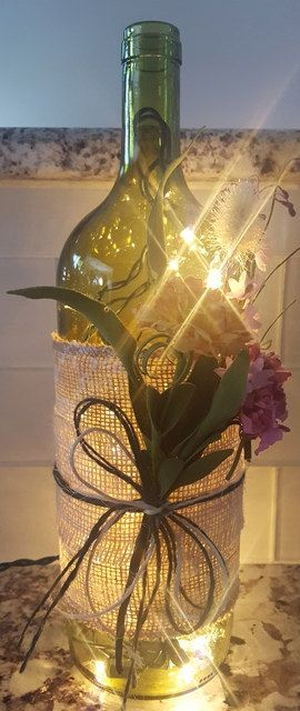 25 unique wine bottle centerpieces ideas on pinterest for Empty bottle decoration ideas