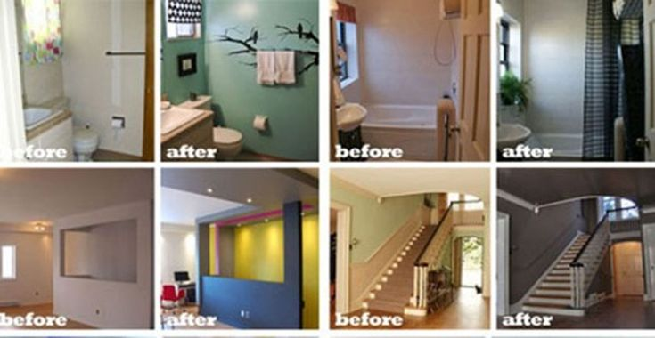 Before and after home renovation projects r e n o v a t for Home renovation before and after