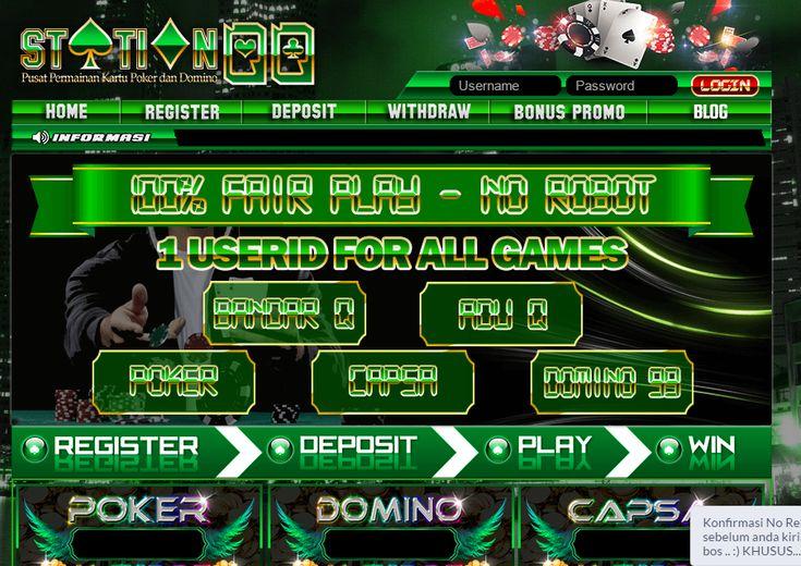 StationQQ - Poker Online, Domino Online, Terpercaya