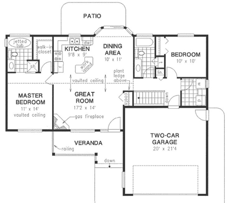 81 best images about small houses on pinterest small for Small house plans with basement and garage