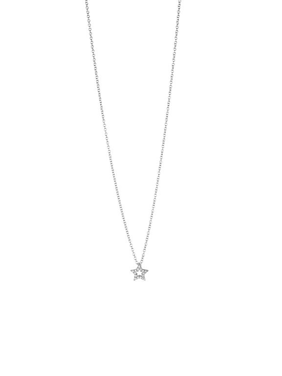 Jan Logan Star diamond & white gold necklace