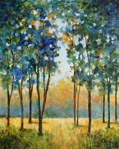 "Daily Paintworks - ""Westridge Trees"" - Original Fine Art for Sale - © Nancy F. Morgan"