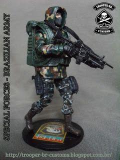 Gi joe Custom Action Figures: Exército Brasileiro - Forças Especiais | Brazilian Army - Special Forces