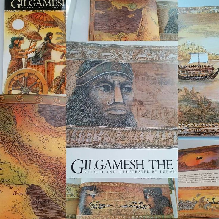 #Making #webetest So many great ideas came to me today for unit study out of this book by Ludmila Zeman. comparative lit; cuneform valentine; pictograph valentine; compare map ancient world to resettlement project/concert/fundraiser going on in our town; old music forms of the area; scene from story in wallhanging/tapestry/rug; illustrated poem fragment; clay tile; scroll showing loving bridge building words... by the_unkhoolist
