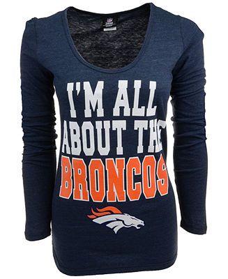 5th & Ocean Women's Long-Sleeve Denver Broncos T-Shirt - NFL - Men - Macy's