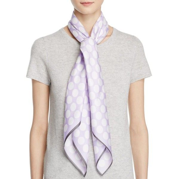 Echo Polka Dot Scarf (1.200.995 IDR) ❤ liked on Polyvore featuring accessories, scarves, lilac, echo scarves and polka dot scarves