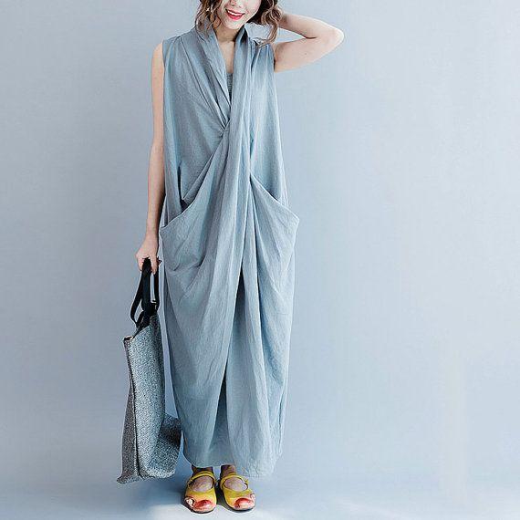 women vintage dress/women cotton long dress/women by babyangella