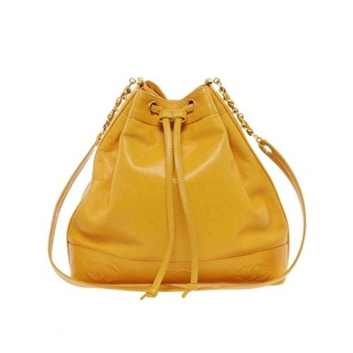 Vintage Heirloom  Chanel  Gelbe Beuteltasche