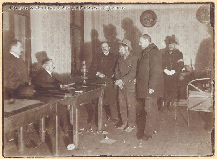 Rendőrségi kihallgatás (1905) - Forrás: bpkep.fszek.hu