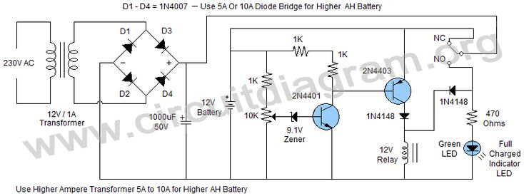 Image result for automatic cutoff battery charger circuit