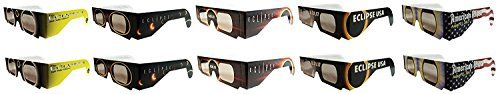 Eclipse Glasses - CE Certified Safe Solar Eclipse Glasses Eye Protection – 10pk Random Designs by American Paper Optics  (227)Buy new:   $  18.99 15 used & new from $  16.99(Visit the Best Sellers in Home & Kitchen list for authoritative information on this product's current rank.) Amazon.com: Best Sellers in Home & Kitchen...