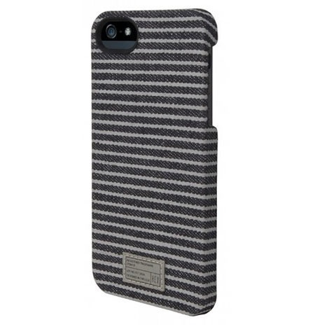HEX CORE Case for iPhone 5 Stripe (High Quality Waxed Canvas Covered Case) - hardtofind.