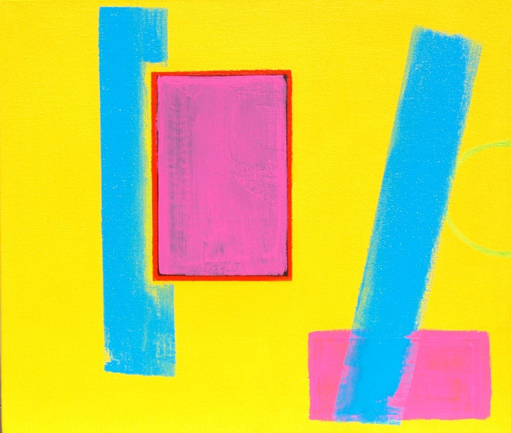 """""""Diving Boards"""" (2011) ~ 14in x 12in ~ acrylic on canvas"""