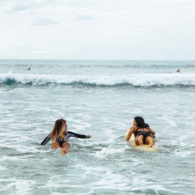 #surfing #surf #surfgirls // Sunkissed Sisters