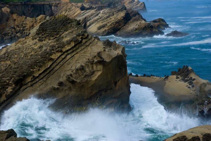Landscape Photography, Pacific Coast, Cliffs, Coos Bay, Oregon by UpdikeStudios on Etsy