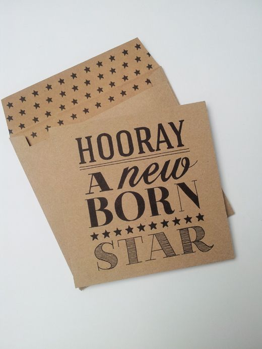 Postcard 'new born star'