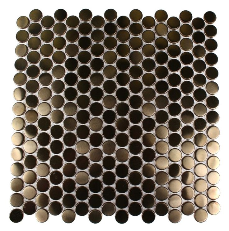 METAL COPPER STAINLESS STEEL 3/5 PENNY ROUND TILES  Love!