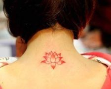 Small Red Lotus Tattoo
