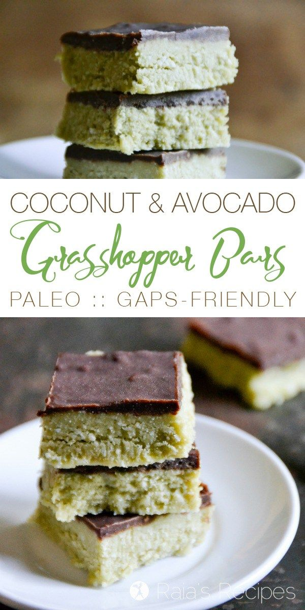 These Coconut & Avocado Grasshopper Bars are allergy-friendly and full of healthy, real-food deliciousness. And they're completely devoid of grasshoppers...