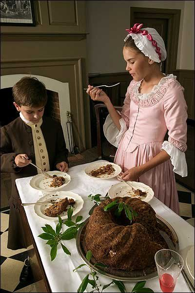 """Those old recipes from Williamsburg are SO GOOD! Click on pic for link to """"History is Served"""" with an index to colonial recipes"""