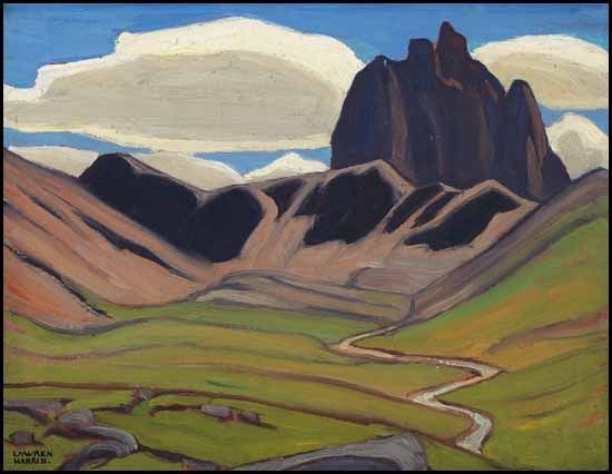 """Mountain Sketch,"" Lawren Stewart Harris, ca. 1924, oil on board, 10 1/2 x 13 7/8"", private collection."