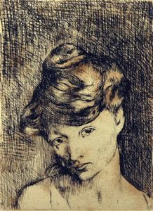 Head of a Woman / Pablo Picasso / 1905 / etching