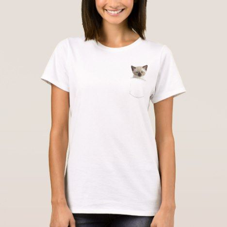 Kitty in Your Pocket T-Shirt #cat #cats #kitten #catproducts