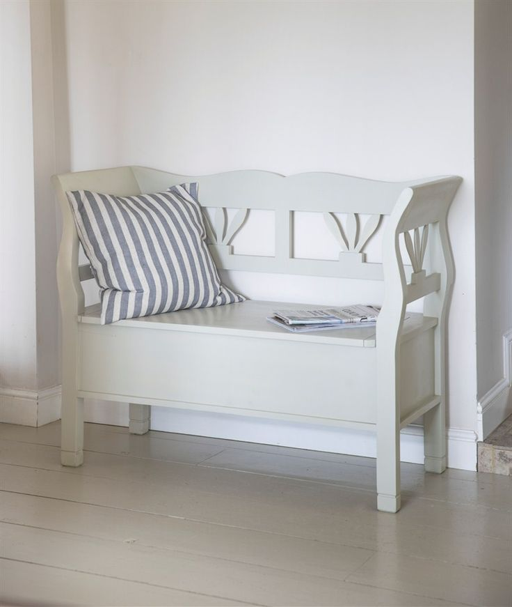 Our beautiful Hungarian small Settle Storage Bench is steeped with character and practicality; with ample storage under its hinged seat, plus seats up to 3 people. £375
