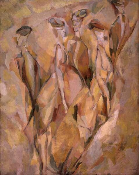 Marcel Duchamp-pinks/peach/brown/grey