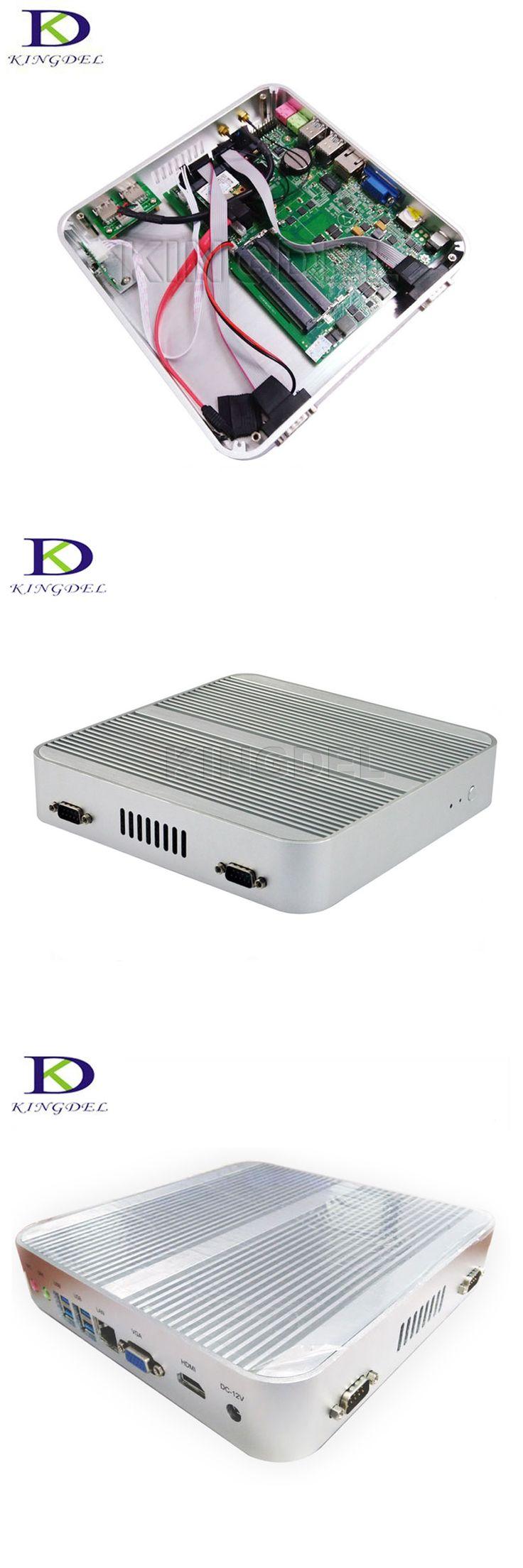 Haswell Fanless i5 Mini Industrial PC Windows 10 HD 4400 HTPC TV Box Intel Core i5 4200U HDMI VGA Mini ITX Gaming Computer