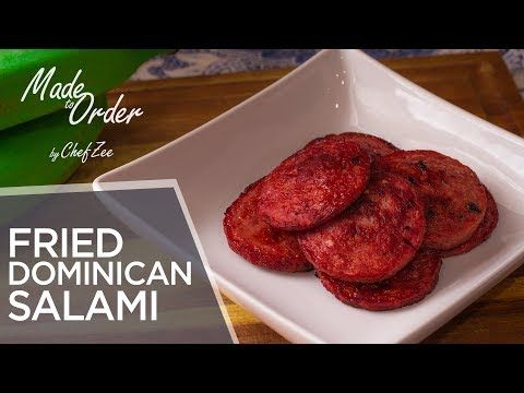 dominican salami mangu series ep 4 made to order chef zee cooks youtube cooking salami recipes food processor recipes pinterest