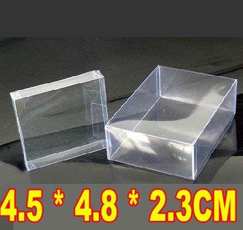 Прозрачная пластиковая коробка ювелирных изделий контактные линзы box 4.5*4.8*2.3 СМ