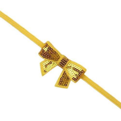 Βρεφική κορδέλα μαλλιών μουσταρδί-χρυσό με φιόγκο