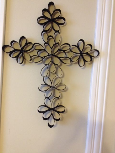 Cross made of paper. Looks great on a wall.