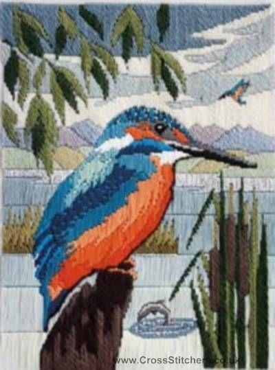 Kingfisher Long Stitch Kit from Derwentwater Designs