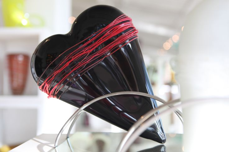 Heart sculpture by Red Hot Glass, contemporary glassblowing studio