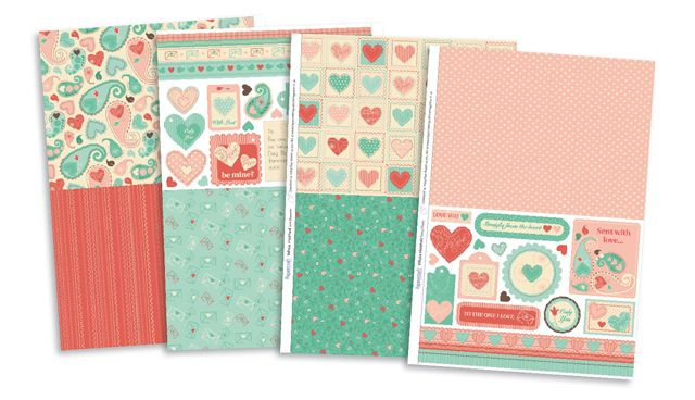 FREE Whole Hearted papers to download from issue 96! | Papercraft Inspirations
