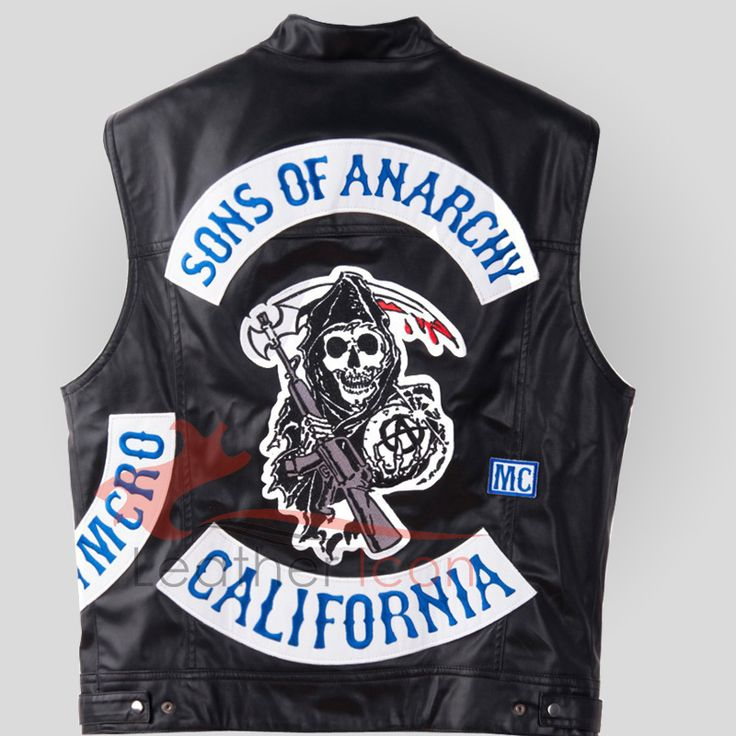 #SonsOfAnarchy Jax Teller Leather Vest With Patches For Sale