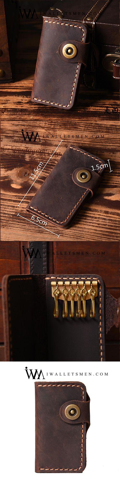Handmade Leather Mens Cool Key Wallet Key Holder Car Key Case for Men