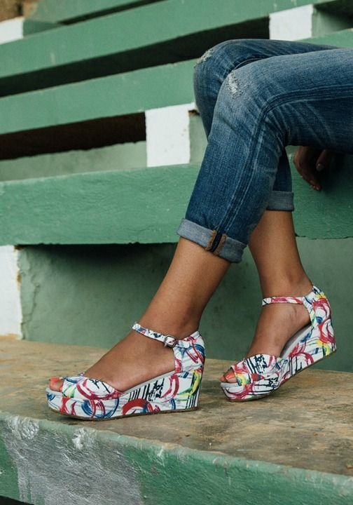 A TOMS wedge is a wonderful thing, especially in bold prints.