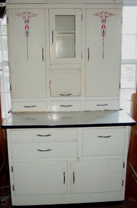 1940 39 s 50 39 s vintage hoosier cabinet with flour mill