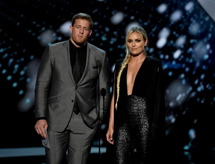 Lindsey Vonn got very suggestive with J.J. Watt on ESPYs red carpet....How to be irrelevant and try to latch on to the next one