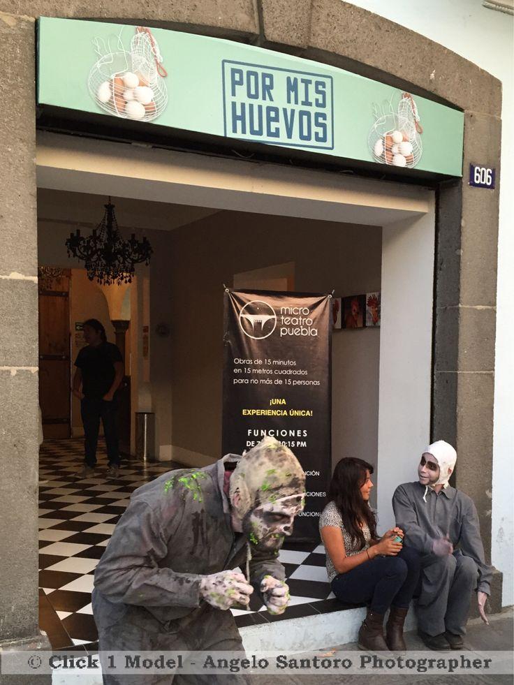 Aquí con #losponedores en #microteatropuebla #sabadonoche #puebla