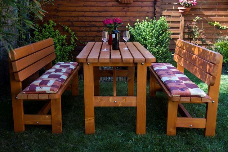 Jó árfekvésű Rusztik  garnitúra,hagyományos kerti bútor,42 mm vastag lucfenyőből