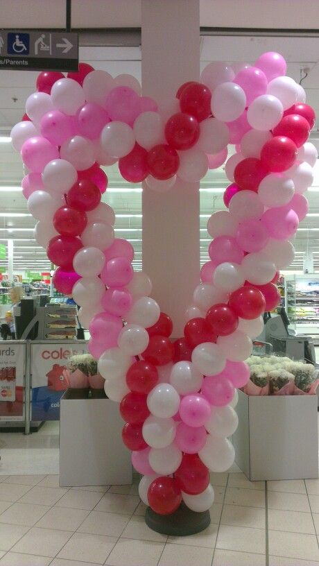 Balloon Arch Heart for Mothers Day #balloonarch